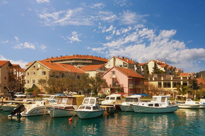 Natural harbor in Tivat city. Montenegro. Natural harbor of Kalimanj in Tivat city. Montenegro stock image