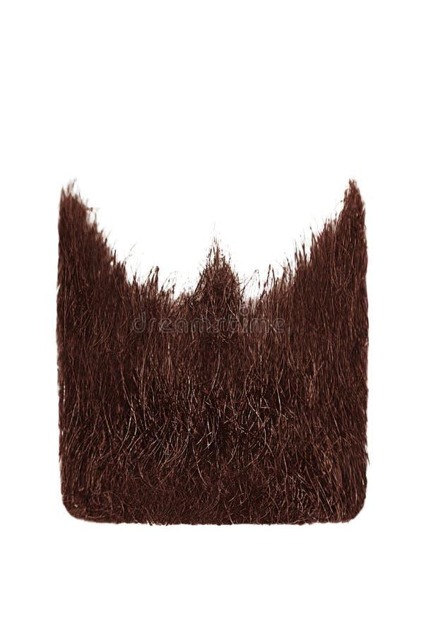 Square henna beard isolated on white. Men`s fashion royalty free stock photography
