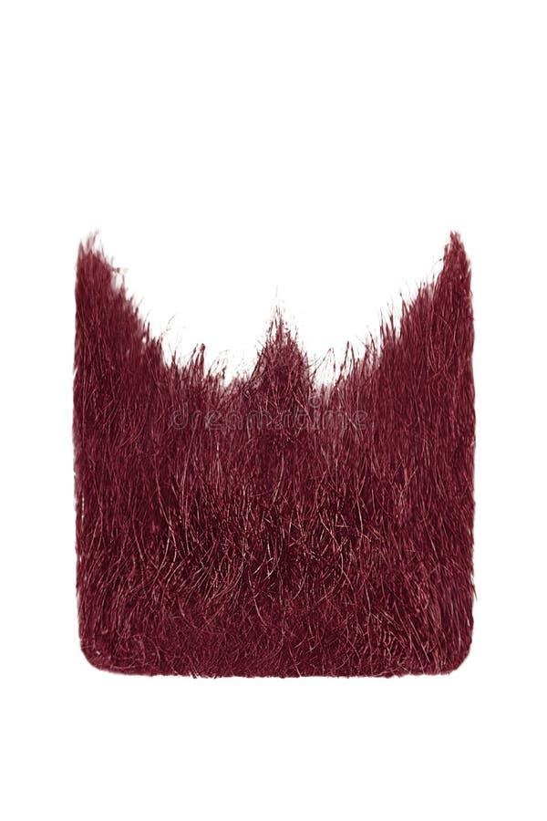 Square pink beard isolated on white. Men`s fashion stock photo