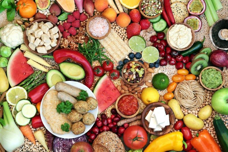 Natural Healthy Vegan Food for Good Health stock photo