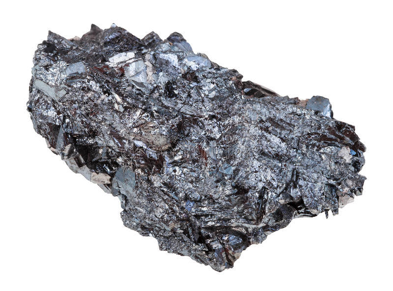 Natural hematite iron ore stone isolated royalty free stock images