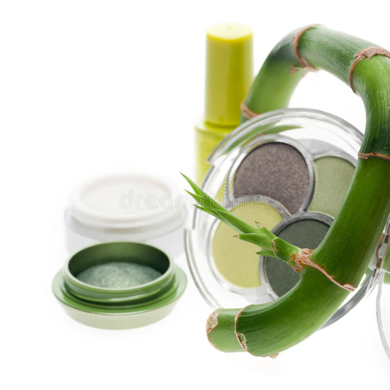 Natural herbal cosmetics and make-up stock photo