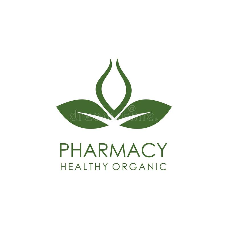 Hand Drawn Soap Logo Template: Natural Herbal Medicine Pharmacy Logo Design Stock