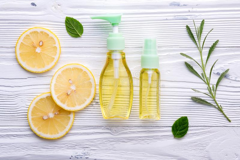 Natural herbal skin care products. Skin care ingredients on table concept of the best all natural face moisturizer. Facial stock photos
