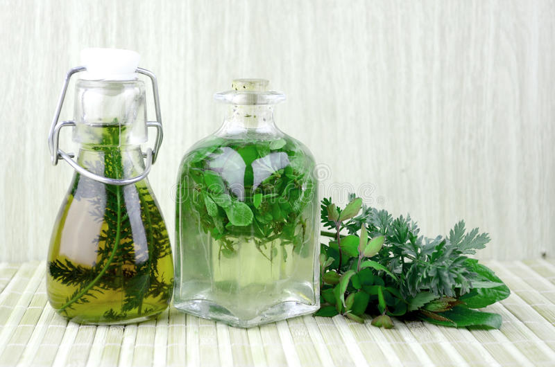Natural herbal tinctures medicine royalty free stock photo