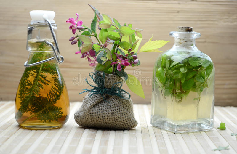 Natural herbal tinctures medicine royalty free stock photography