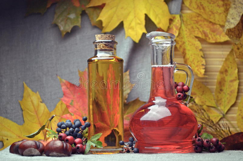 Natural herbal tinctures medicine stock image