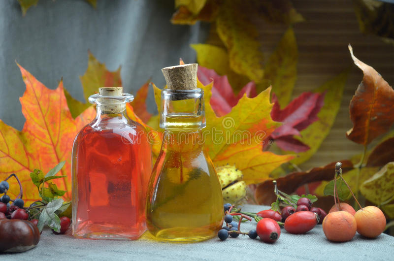 Natural herbal tinctures medicine stock photography