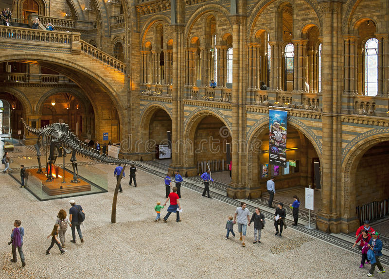 Natural History Museum. LONDON, ENGLAND - MAY 30: The Natural History Museum on May 30, 2015 in London stock photo