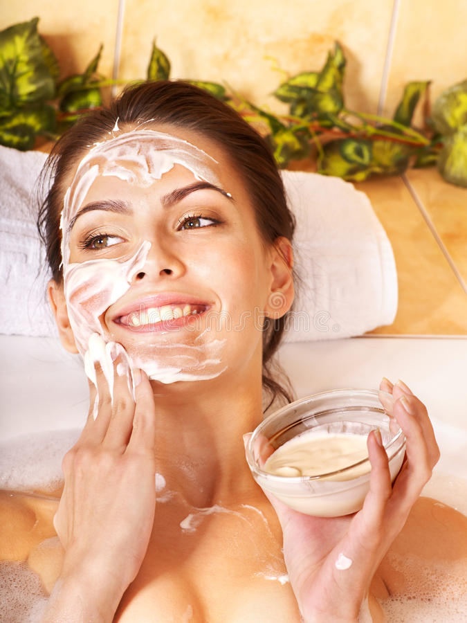 Natural homemade facial masks . stock photo