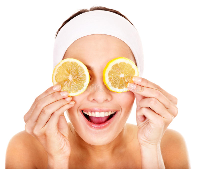 Natural homemade fruit facial masks . stock image