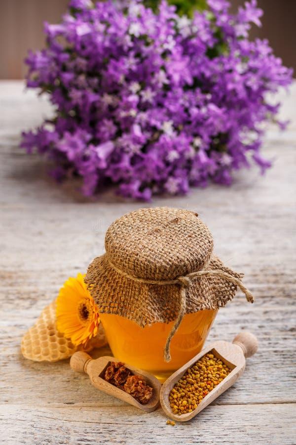 Natural honey stock image