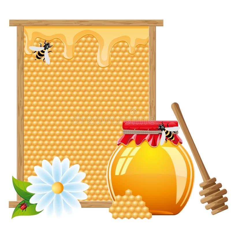 Natural honey vector illustration stock illustration