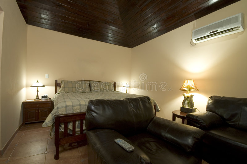 Natural hotel room stock image
