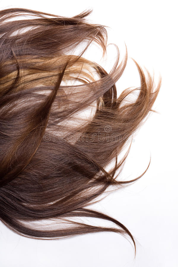 Natural human hair. On a white background royalty free stock images