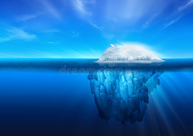 Natural Iceberg with Polar Bear stock images