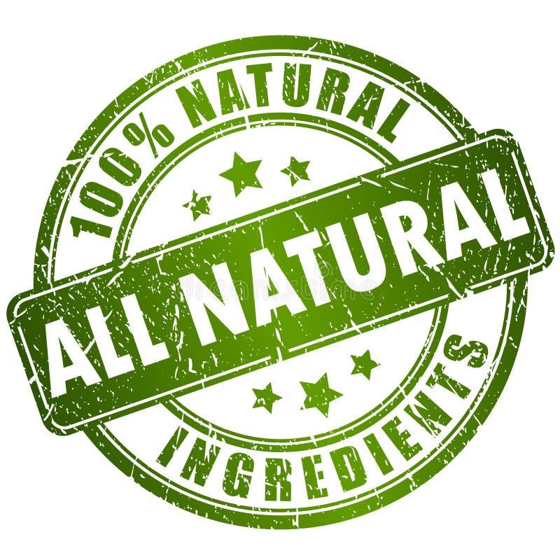 Natural ingredients stamp vector illustration