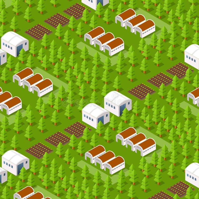 Natural isométrico rural libre illustration