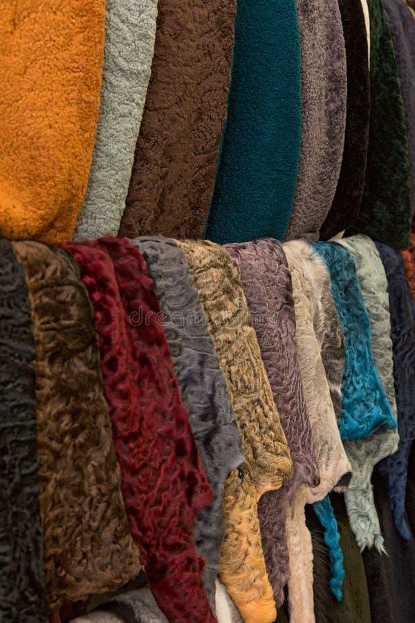 Natural Karakul fur royalty free stock photos