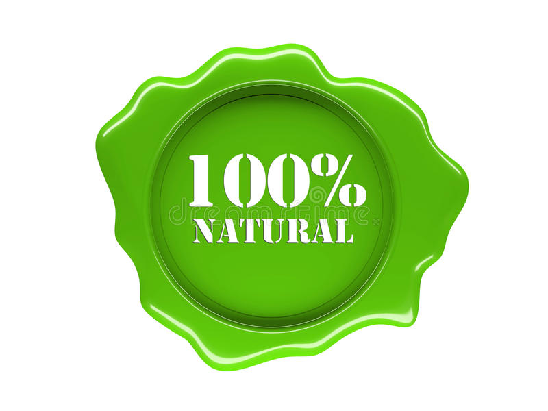 Natural Label Royalty Free Stock Photo