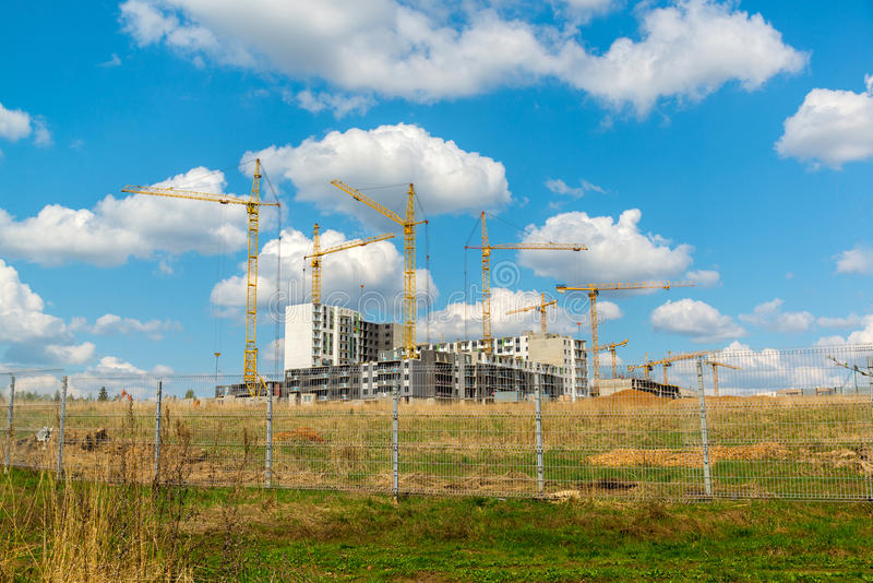 The natural landscape of construction site. The natural landscape of the construction site royalty free stock photography