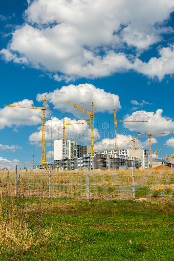 The natural landscape of construction site. The natural landscape of the construction site stock image