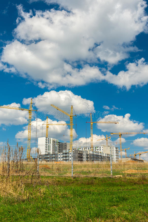 The natural landscape of construction site. The natural landscape of the construction site stock photos