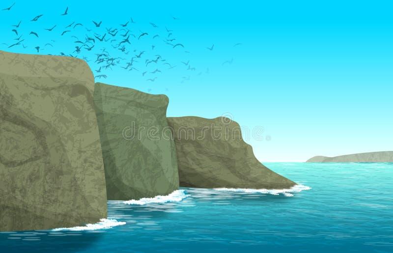 Ocean Cliff Clip Art