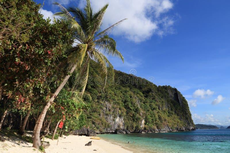 Palawan Papaya Beach. Natural landscape in Palawan island, Philippines. Papaya Beach royalty free stock images