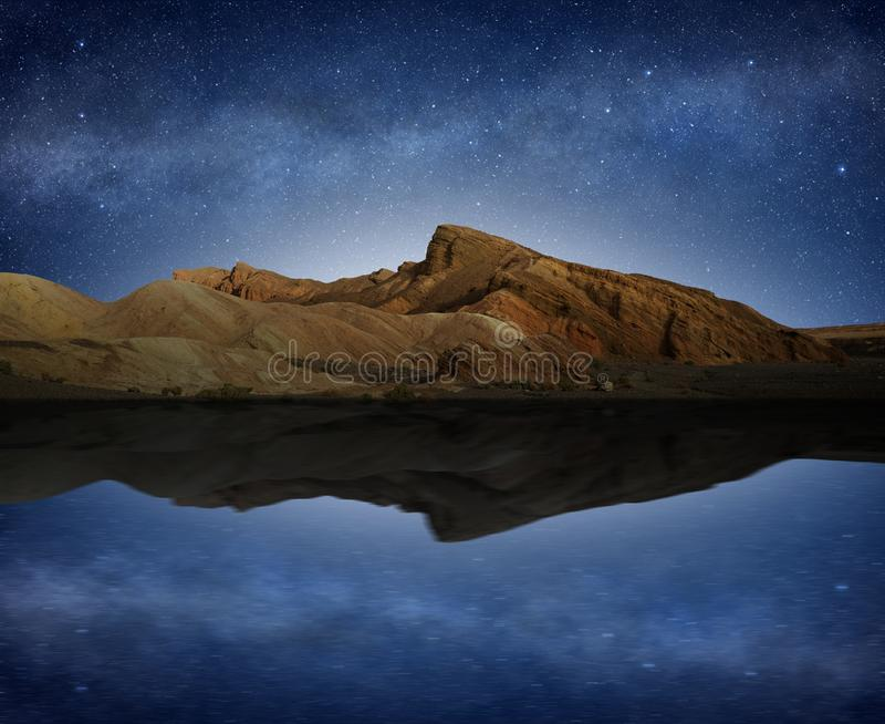 Natural landscape reflected in the water stock images