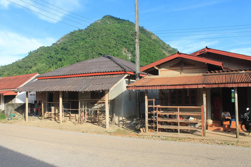 Natural landscapes,Laos royalty free stock photos