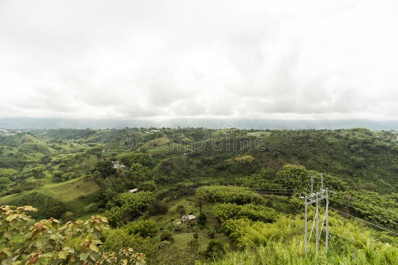 Natural Landscapes from Lookout of Armenia in Quindio ,Colombia. Natural Landscapes from Lookout of Armenia in Quindio,Colombian Coffee Region royalty free stock photography