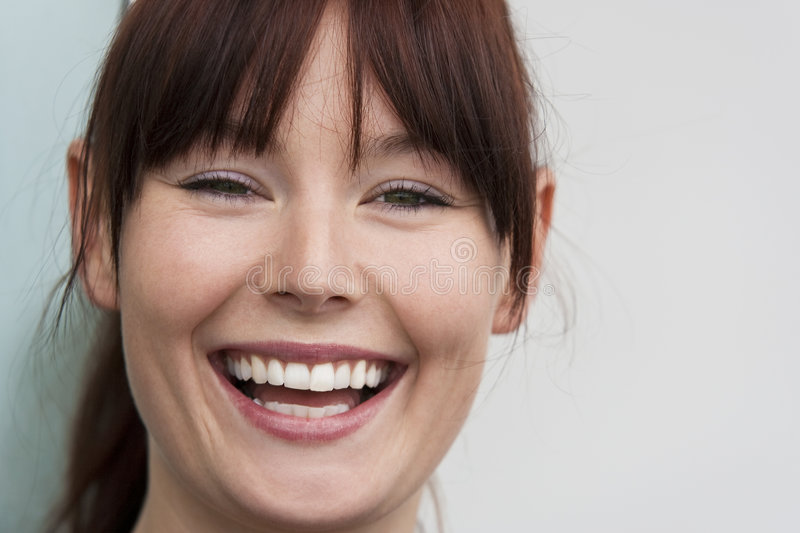 Download Natural Laugh stock photo. Image of eyes, hair, relaxed - 8016960