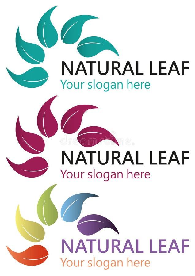 Natural leaf logo stock image