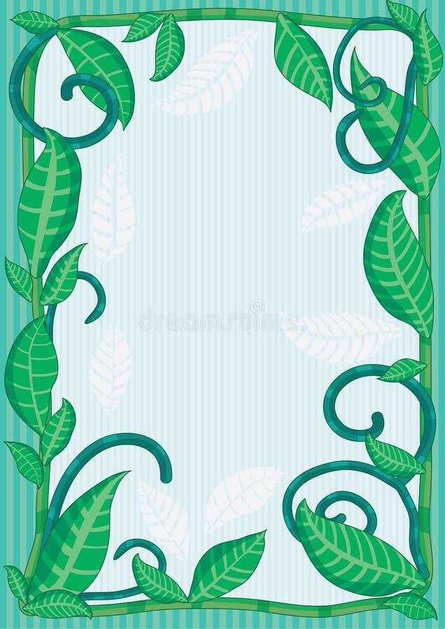 Download Natural Leaves Frame_eps stock vector. Illustration of frame - 24994570