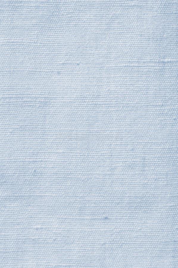 Natural Light Blue Flax Fibre Linen Texture, Detailed Closeup, rustic crumpled vintage textured fabric burlap canvas pattern stock image