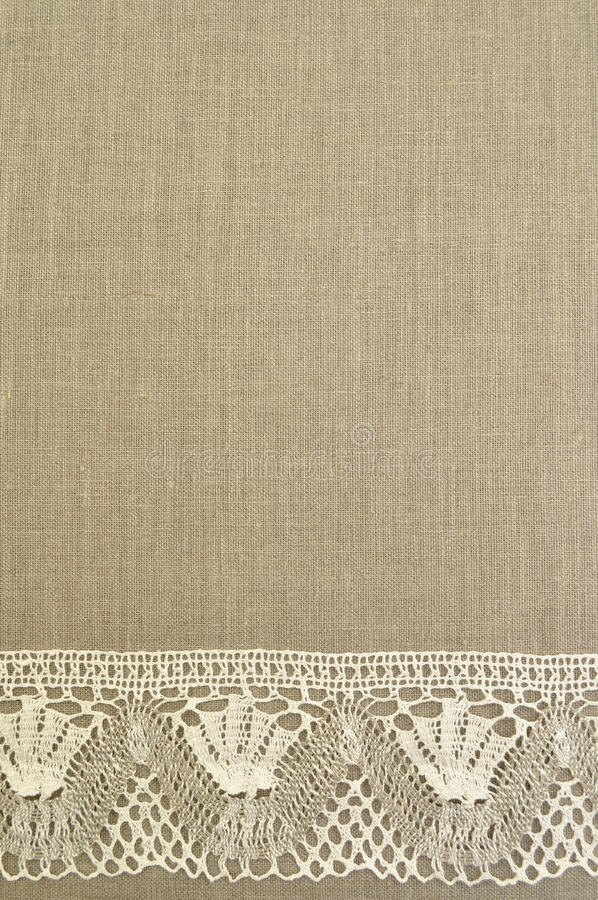 Download Natural Linen Background With Lace Stock Image - Image: 15720713