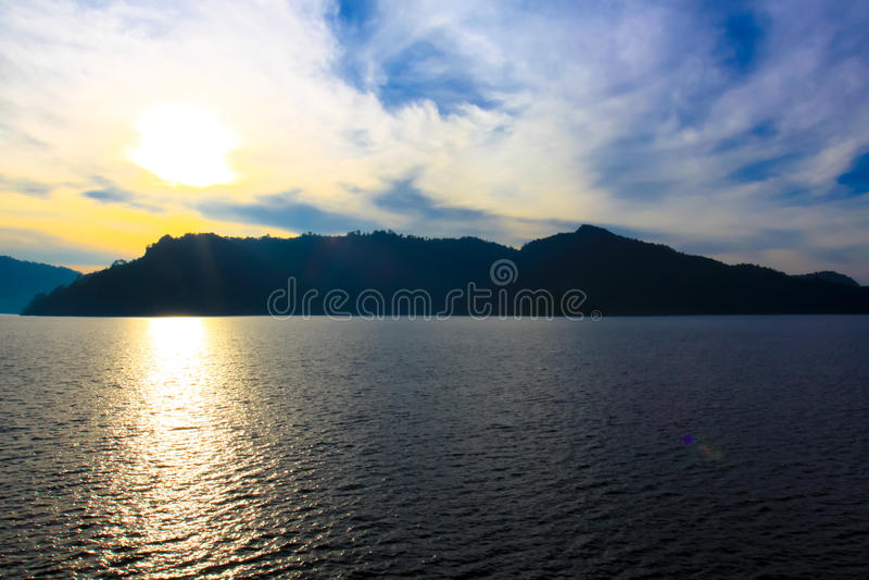 Natural location Kun Dan Pra Kan Chon Dam Nakonnayok Thailand royalty free stock photos