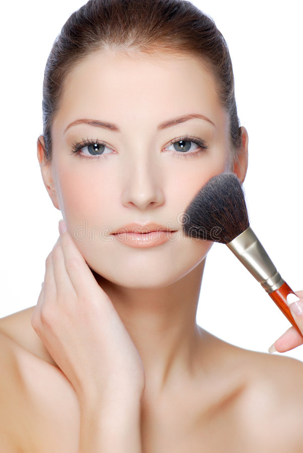 Download Natural  make-up stock image. Image of looking, face, isolated - 7165505
