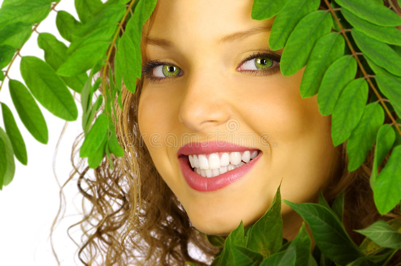 Download Natural makeup stock photo. Image of green, attractive - 1278992
