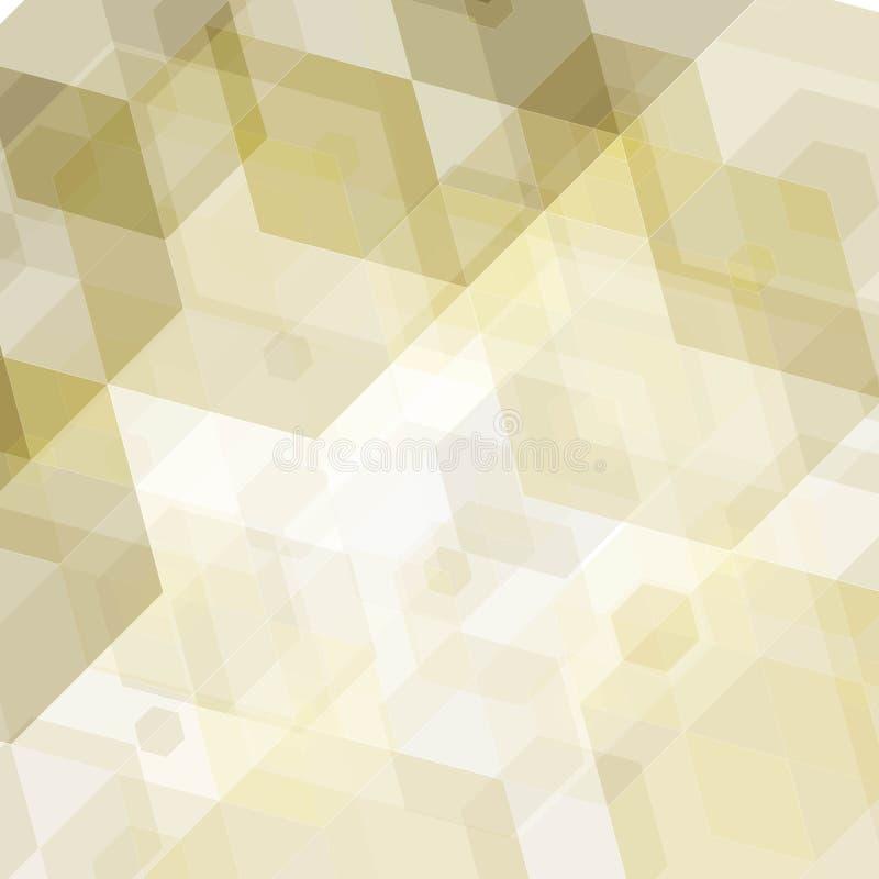 Natural marrón claro, ornamento del mosaico Plantilla para la publicidad de negocio, diseño, decoración interior Imagen en estilo stock de ilustración