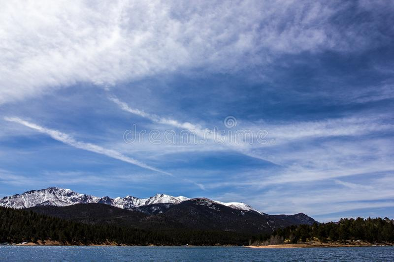 The natural marvel of Rocky Mountain National Park, Colorado, USA. A majestic view of the Rocky Mountain National Park, Colorado, USA royalty free stock photo