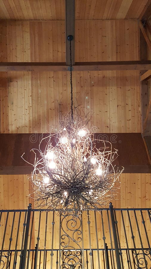 Natural Material Chandelier royalty free stock photos