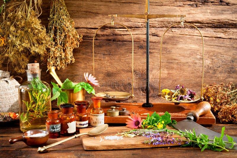 Natural medicine stock photography