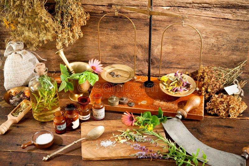 Natural medicine stock images