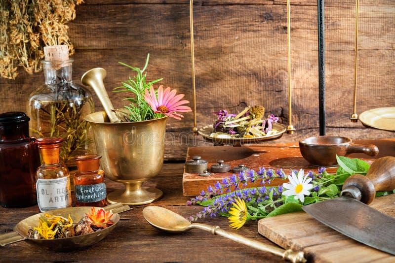 Natural medicine stock image