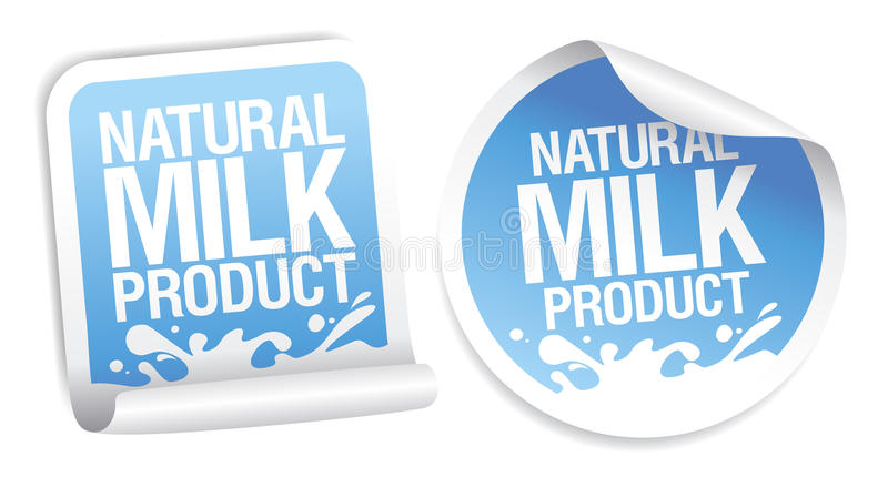 Download Natural Milk Product Stickers. Stock Illustration - Image: 19873011