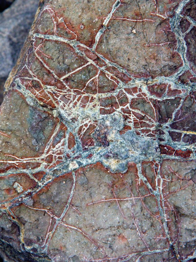 Natural mineral background with mineral concretions. Whit nerves form on Huesca stock photo