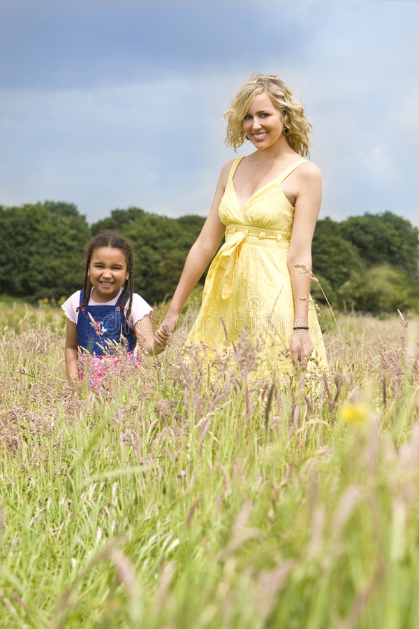 Download Natural Mother and Child stock photo. Image of field, multi - 6218164