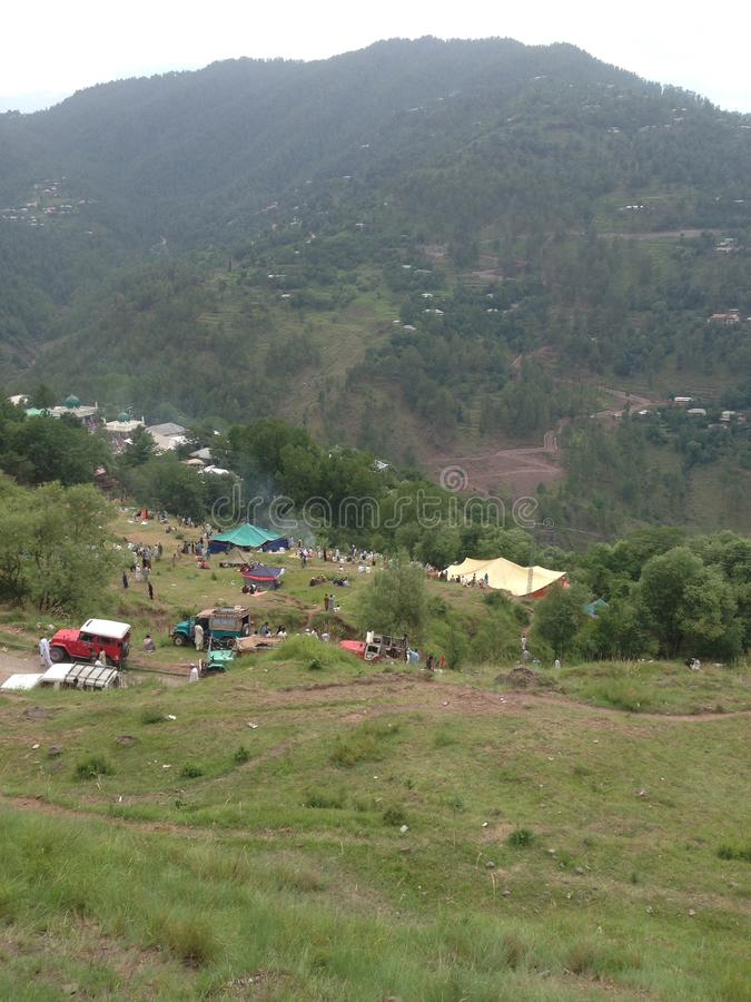 Natural mountain valley. It nears to murree stock photography